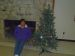 Theresa with decorated tree