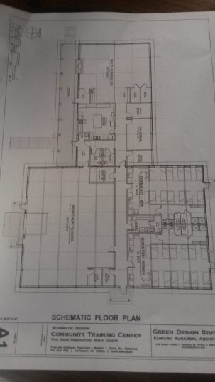 Building plans that will be built in 2 stages depending on funding
