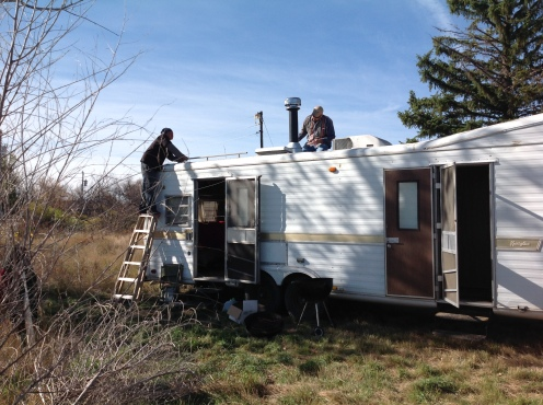 Rehab work on trailer